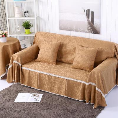 提花系列万能盖巾沙发套沙发巾抱枕套桌布 抱枕45*45cm 凤之舞-咖
