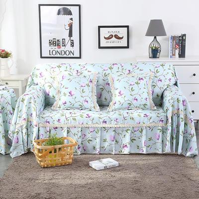 2019新款-欧式印花系列沙发巾沙发垫万能盖巾全盖沙发巾沙发套沙发罩 单人座200*200 香兰-紫