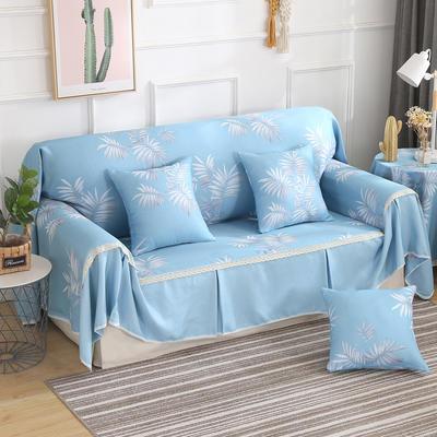 田园风系列全盖沙发巾沙发罩万能盖巾桌布抱枕套 215*200cm单人位 初夏