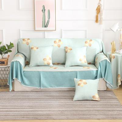 田园风系列全盖沙发巾沙发罩万能盖巾桌布抱枕套 215*200cm单人位 魅影