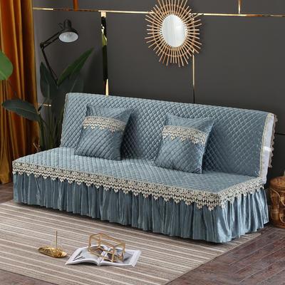 2019新款-意大利绒沙发床罩万能盖巾沙发垫沙发罩 同款抱枕套45*45 灰