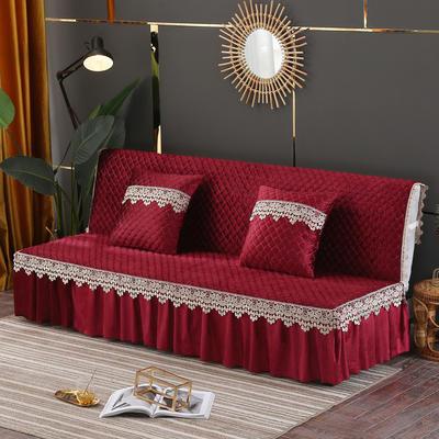 意大利绒沙发床罩万能盖巾沙发垫沙发套罩 1.5m 酒红