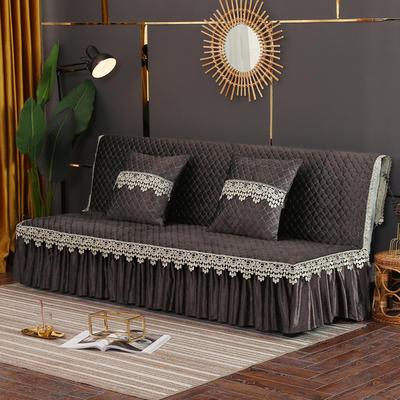2019新款-意大利绒沙发床罩万能盖巾沙发垫沙发罩 同款抱枕套45*45 深咖