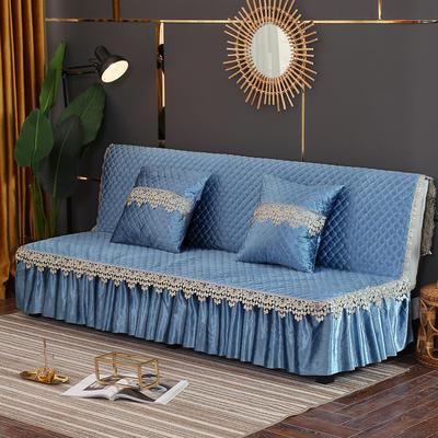 2019新款-意大利绒沙发床罩万能盖巾沙发垫沙发罩 同款抱枕套45*45 宝石蓝