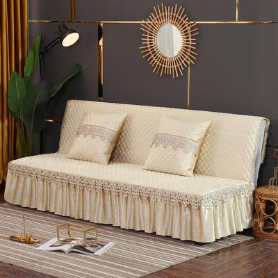 2019新款-意大利绒沙发床罩万能盖巾沙发垫沙发罩 同款抱枕套45*45 米色