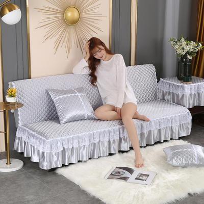 2020新款-加厚折叠无扶手沙发床套罩四季通用全盖防滑沙发垫可定做 1.2米 经典灰