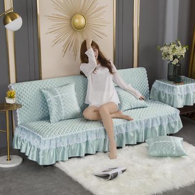 2020新款-加厚折叠无扶手沙发床套罩四季通用全盖防滑沙发垫可定做 1.2米 水绿