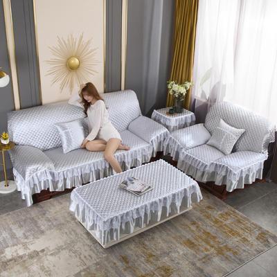 2020新款-全盖沙发垫四季通用加厚防滑沙发垫罩可定做 150*150CM不含下摆 经典灰