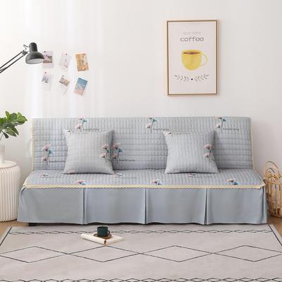 2020新款-四季双拼印花款沙发床罩 120*138cm(不含下摆) 银杏叶灰