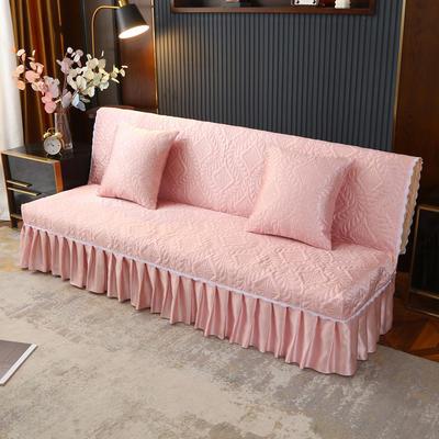 2021新款冰丝雕花沙发罩(加宽型) 1.5米长沙发床 金香玉