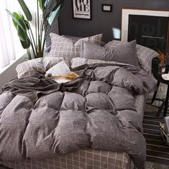 铂金磨毛四件套 标准(1.5m-1.8m床) 比尔-黑