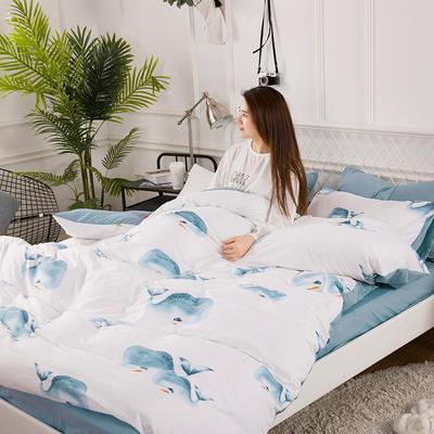 2019春夏水洗棉印花四件套 小号(1.2m)床单款 豚之恋