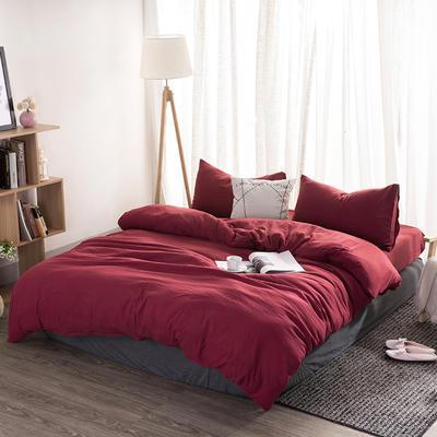 四件套 无印纯色 1.5m-1.8m床 标准 温莎红