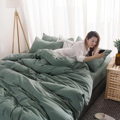 四件套 无印纯色 1.5m-1.8m床 标准 香草绿