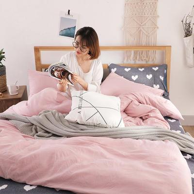 2018新款水洗棉四件套 1.2m(4英尺)床(四件套) 文艺心
