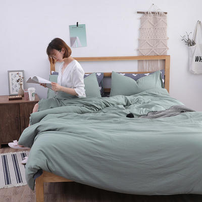 2018新款水洗棉四件套 1.2m(4英尺)床(四件套) 香草心
