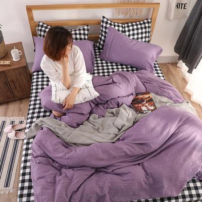 2018新款水洗棉四件套 1.2m(4英尺)床(四件套) 优雅格