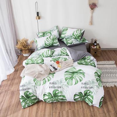 2019春夏水洗棉印花四件套 小號(1.2m)床單款 龜背葉