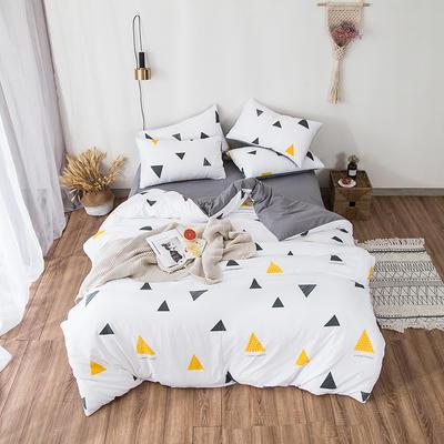 2019春夏水洗棉印花四件套 小號(1.2m)床單款 幾何