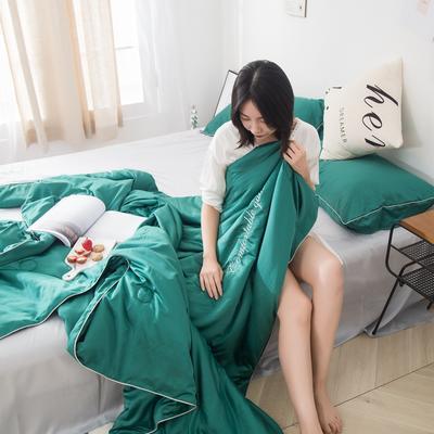 2019新款-水韵真丝夏被 1.5*2.0m 祖母绿