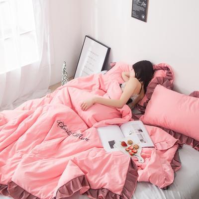 2019新款-小资情调蕾丝花边夏被 1.5*2.0m 粉色