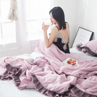 2019新款-小资情调蕾丝花边夏被 1.5*2.0m 裸紫