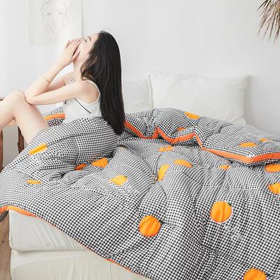 2019新款印花水洗棉冬被 150*200 3斤 橘子控