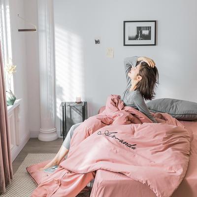 2020新款米兰-玻尿酸纯色双拼磨毛四件套简约风 1.5m床单款 轻奢-豆粉