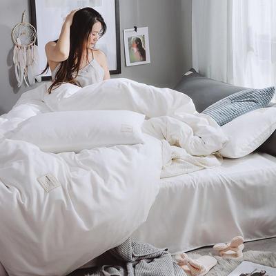 2020年新款纯色+双拼四件套简约日式北欧混搭风—-纯色简约系列 1.2m床单款三件套 白色