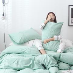 2019全棉水洗棉素系列四件套 1.5m(5英尺)床 艾绿