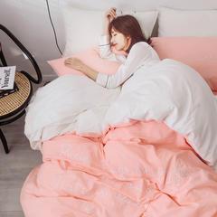 2019全棉水洗棉秀系列四件套 1.2m(4英尺)床 粉玉