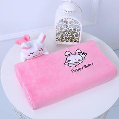 2018新品泰国皇家卡通儿童乳胶枕 45*28*5 粉兔子