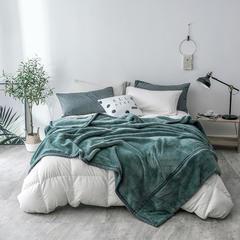 2018新款日式和毯毛毯 150*200cm 松石绿