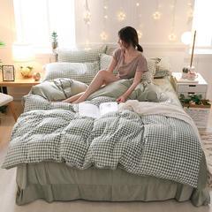 2018新款天鹅绒四件套 1.5m(5英尺)床 别具一格 绿