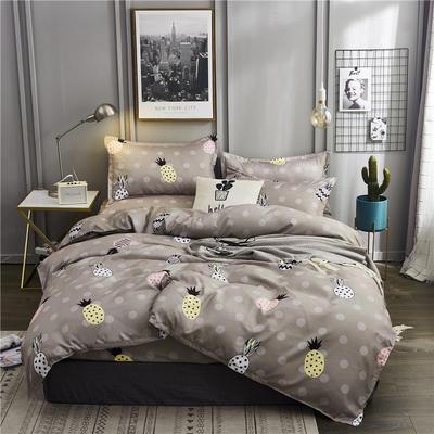 2019新款植物羊绒四件套 1.2m床单款三件套 菠萝
