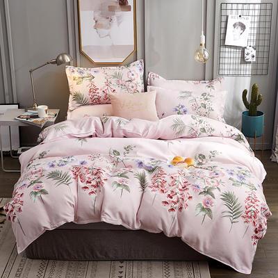 2019新款植物羊绒四件套 1.2m床单款三件套 花语