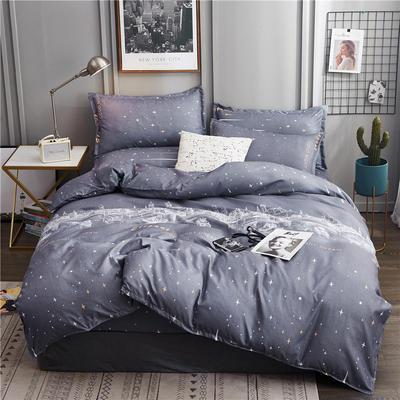 2019新款植物羊绒四件套 1.2m床单款三件套 浪漫星空