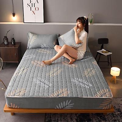 2020新款磨毛单品床笠 150cmx200cm夹棉款 枫叶