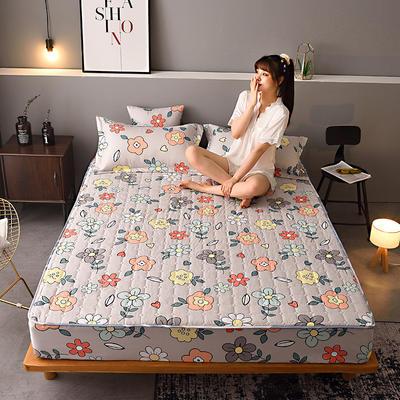 2020新款磨毛单品床笠 150cmx200cm夹棉款 花儿朵朵