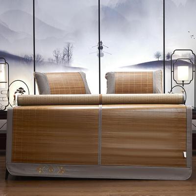 2021新款双面刺绣竹席(单件套 不含枕套 ) 180x200cm 风华正茂