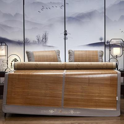 2021新款双面刺绣竹席(单件套 不含枕套 ) 180x200cm 雅韵风情