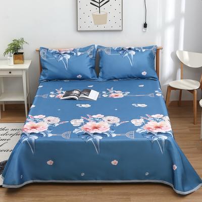 2021新款可水洗冰丝席(床单款) 235*250cm 花团锦簇