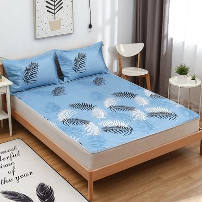 2021新款可水洗冰丝席(床席款) 120*195cm 夏热风情-蓝