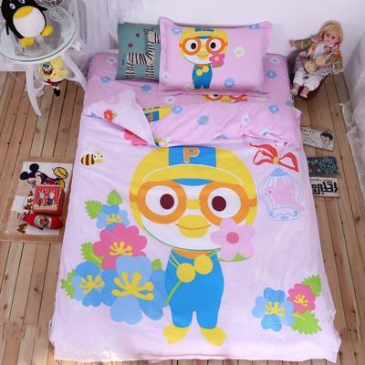 全棉大版卡通三件套 床单200*230三件套 小企鹅的花园