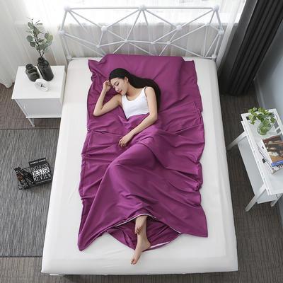 2019新款纯色亲肤棉睡袋 紫色180cmX220cm