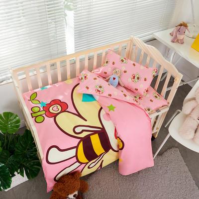 2019新款全棉卡通幼儿园三件套 1.2(单三件套) 小蜜蜂