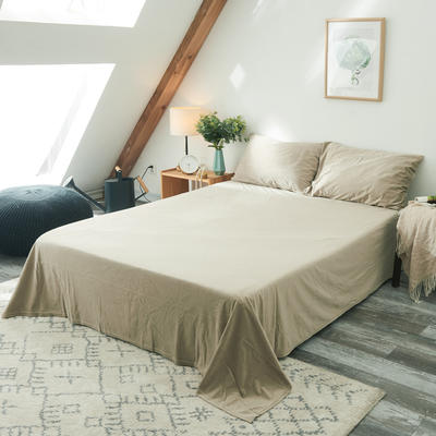 2019新款无印良品天鹅绒单床单 160cmx230cm 米   色