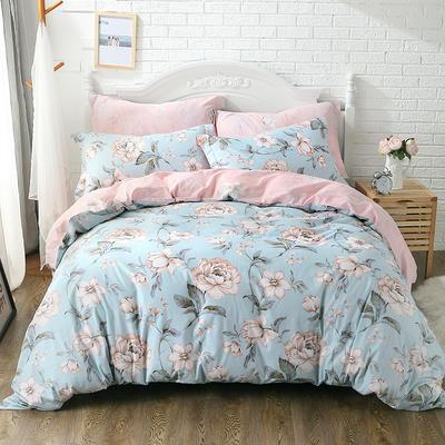 全棉 舒适 13372四件套(四个规格) 200*230 花卉园