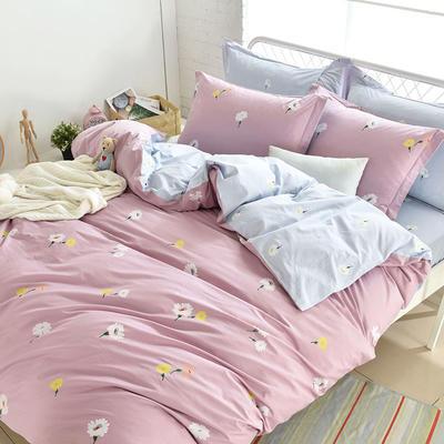 全棉13372四件套(全小号规格) 小号 雏菊花海-紫