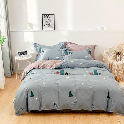 全棉 舒适 13372四件套(四个规格) 200*230 温暖家园-绿
